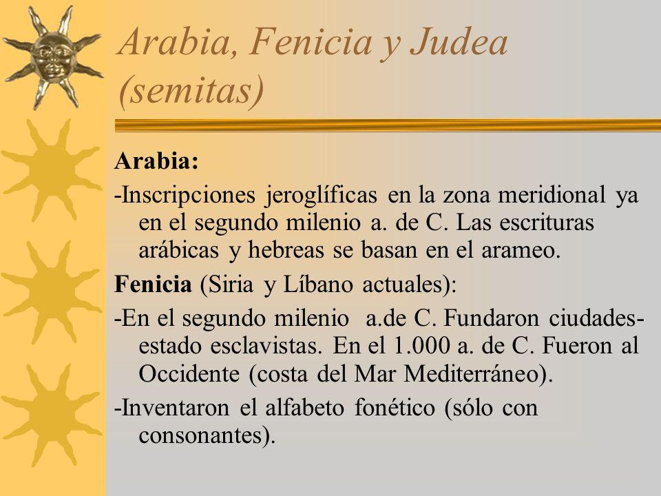 Arabia, Fenicia y Judea (semitas)