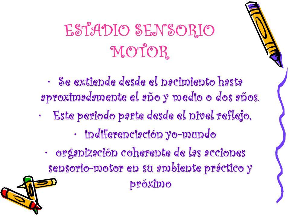 ESTADIO SENSORIO MOTOR