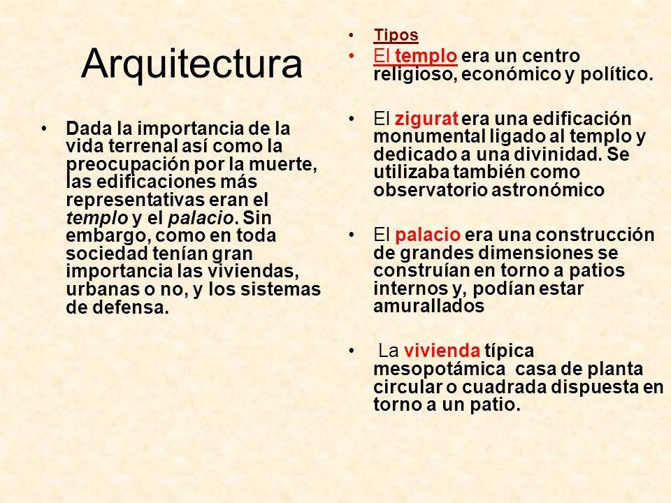 Arquitectura El templo era un centro religioso, económico y político.