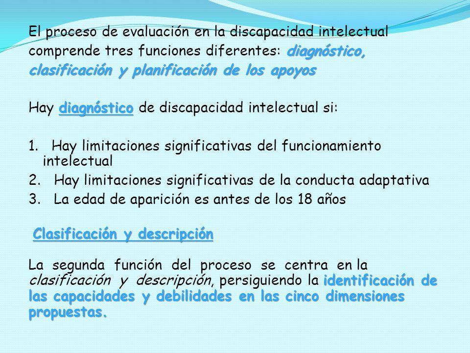 El proceso de evaluación en la discapacidad intelectual