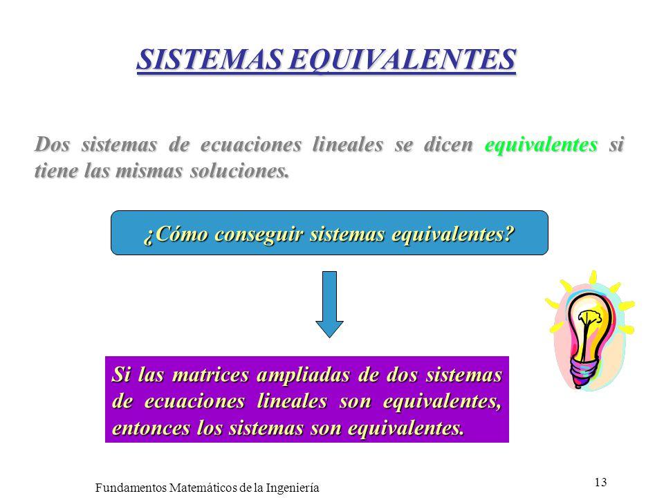 SISTEMAS EQUIVALENTES