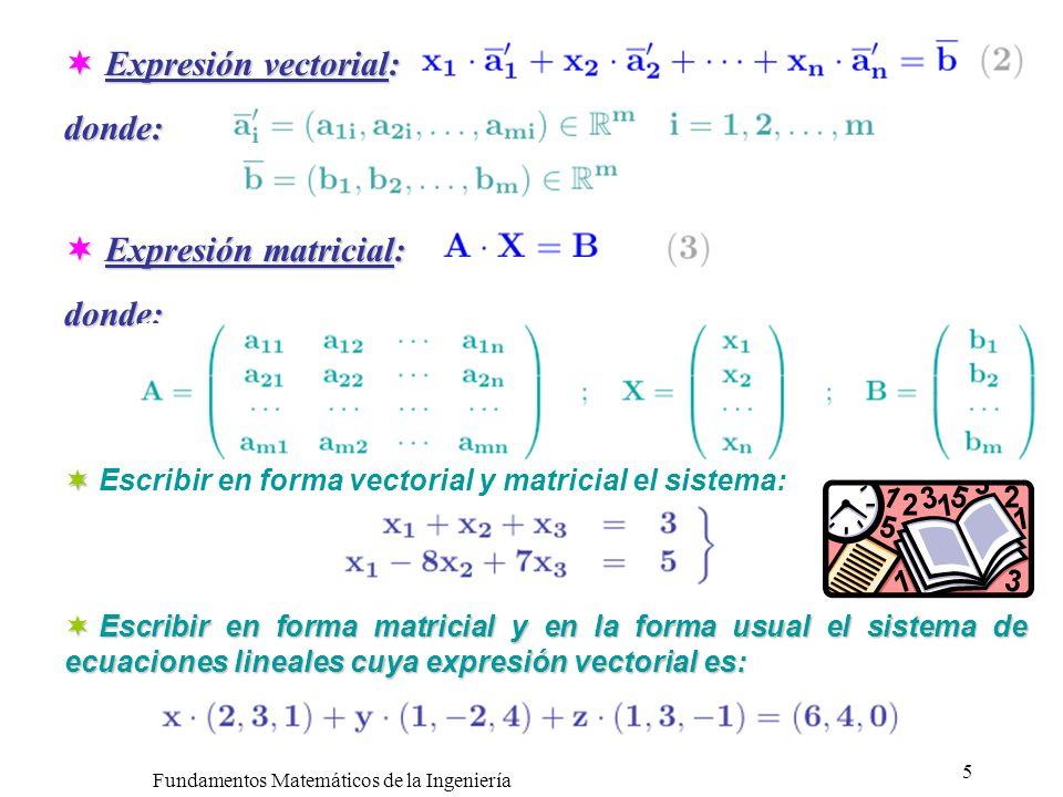 Fundamentos Matemáticos de la Ingeniería