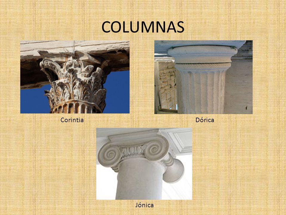 COLUMNAS Corintia Dórica Jónica
