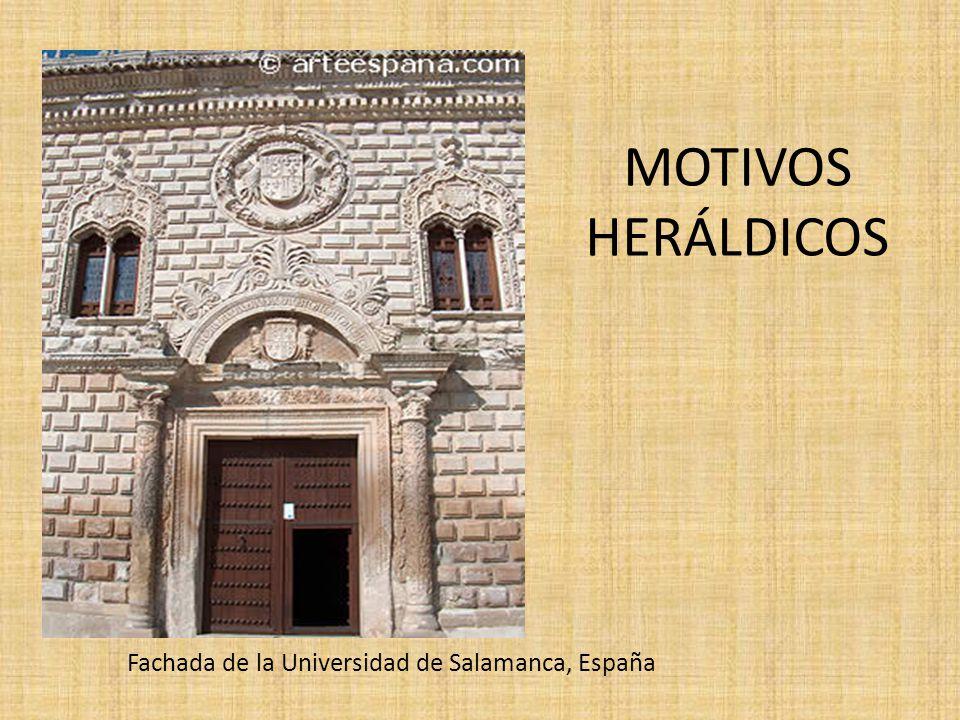 MOTIVOS HERÁLDICOS Fachada de la Universidad de Salamanca, España