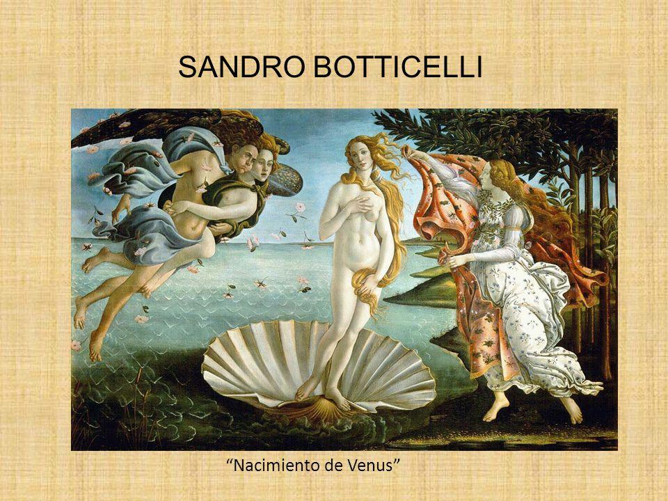 SANDRO BOTTICELLI Nacimiento de Venus