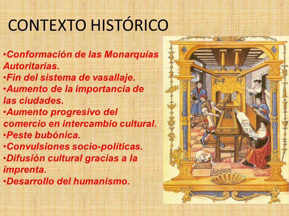 CONTEXTO HISTÓRICO Conformación de las Monarquías Autoritarias.