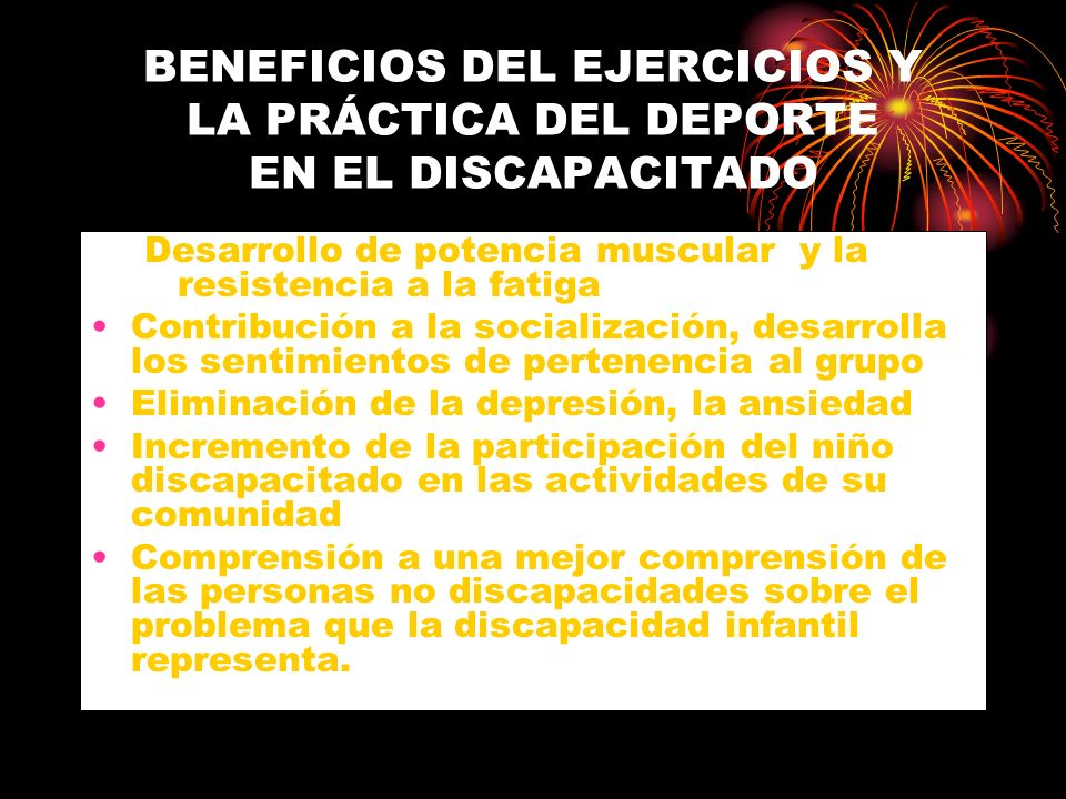 BENEFICIOS DEL EJERCICIOS Y LA PRÁCTICA DEL DEPORTE EN EL DISCAPACITADO