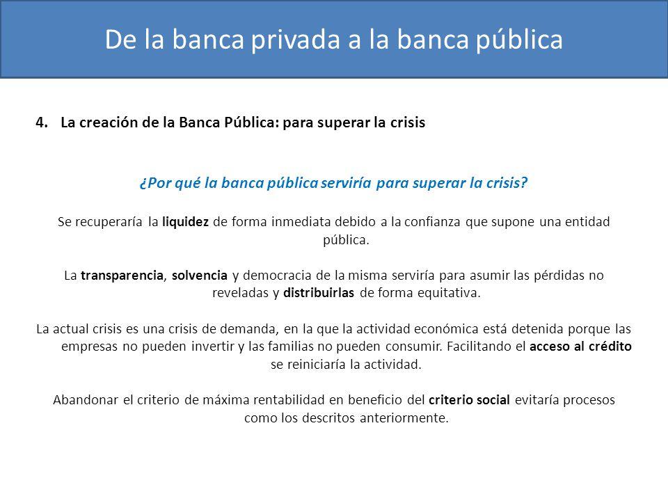 ¿Por qué la banca pública serviría para superar la crisis