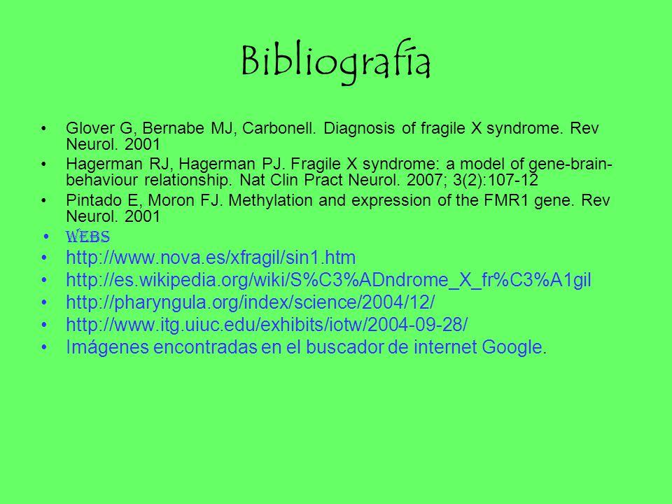 Bibliografía http://www.nova.es/xfragil/sin1.htm