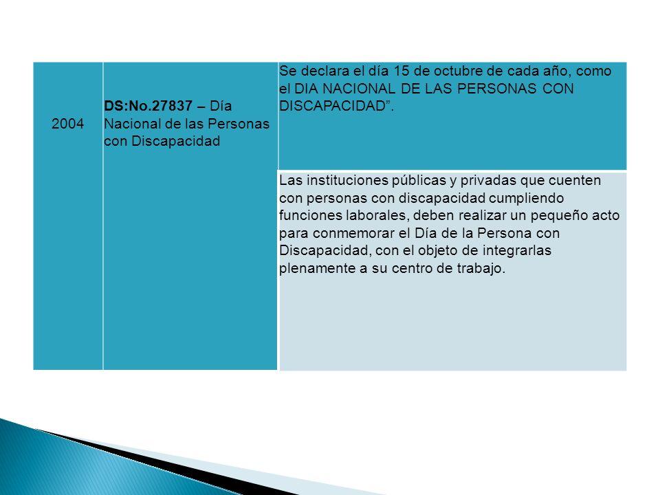 2004 DS:No.27837 – Día Nacional de las Personas con Discapacidad.