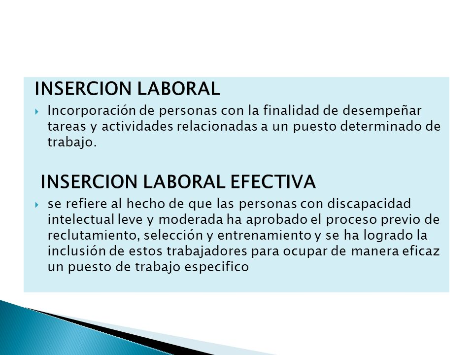 INSERCION LABORAL EFECTIVA