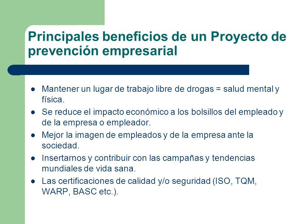 Principales beneficios de un Proyecto de prevención empresarial