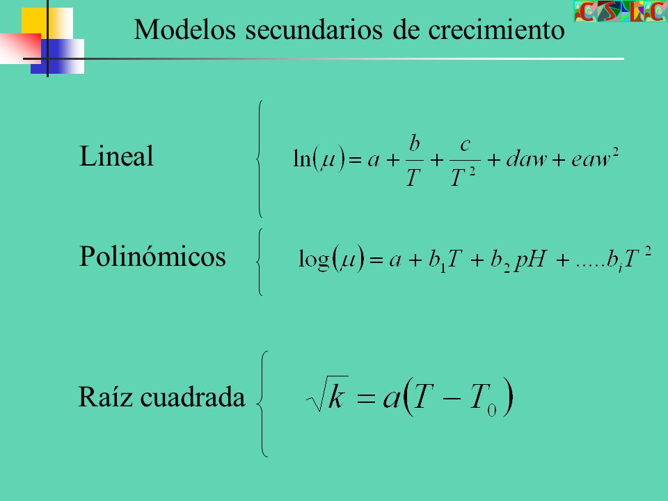 Modelos secundarios de crecimiento