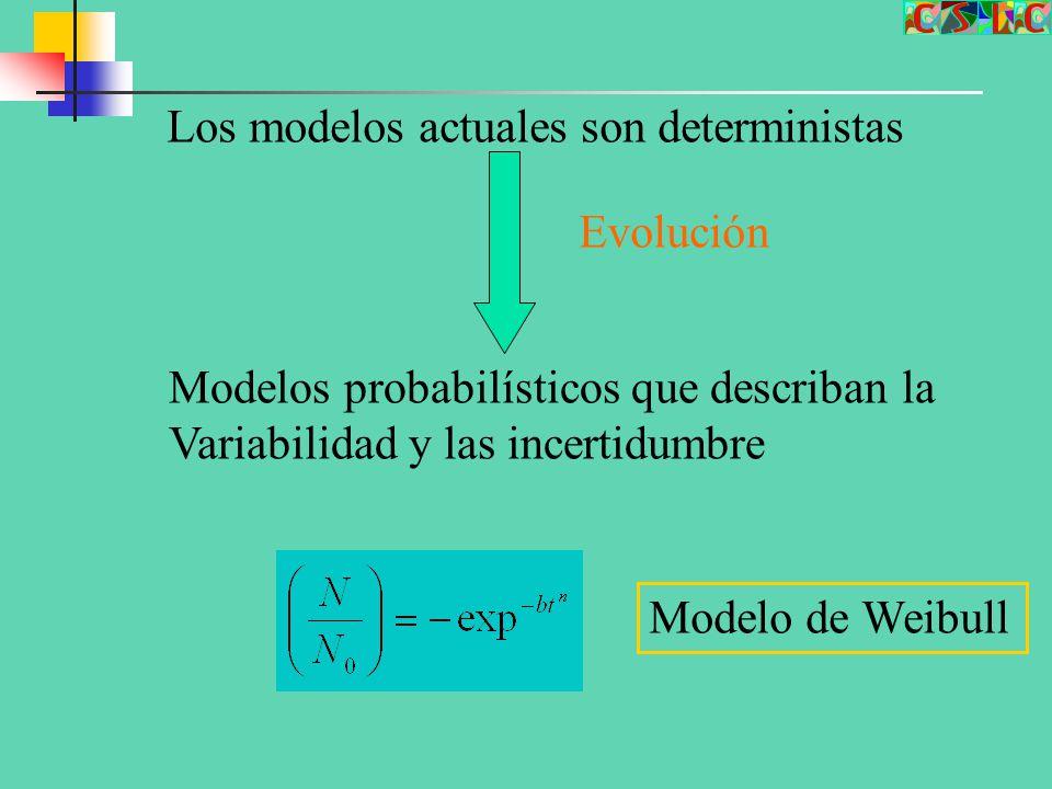 Los modelos actuales son deterministas