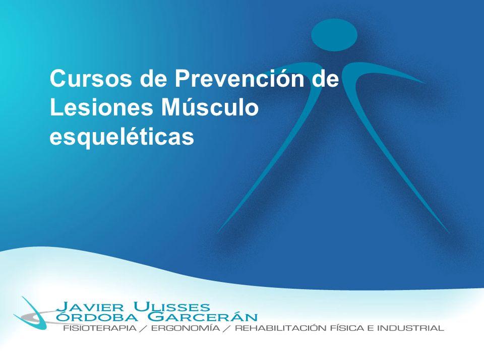 Cursos de Prevención de Lesiones Músculo esqueléticas