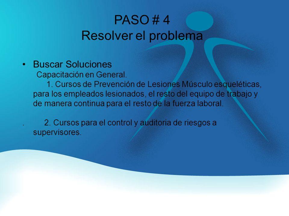 PASO # 4 Resolver el problema Buscar Soluciones