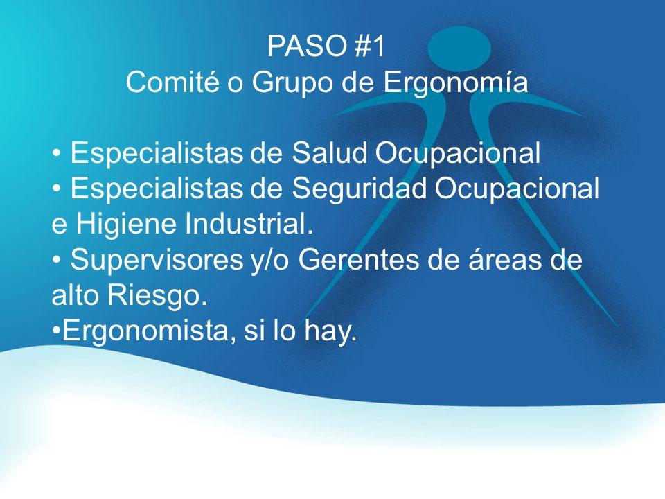 Comité o Grupo de Ergonomía