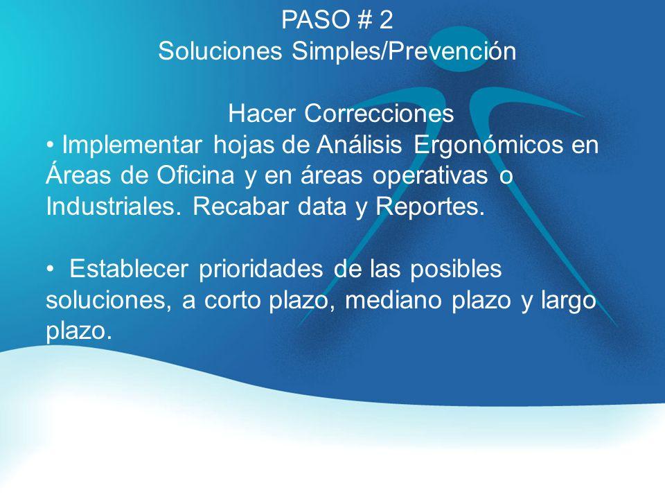 Soluciones Simples/Prevención
