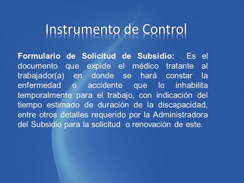 Instrumento de Control