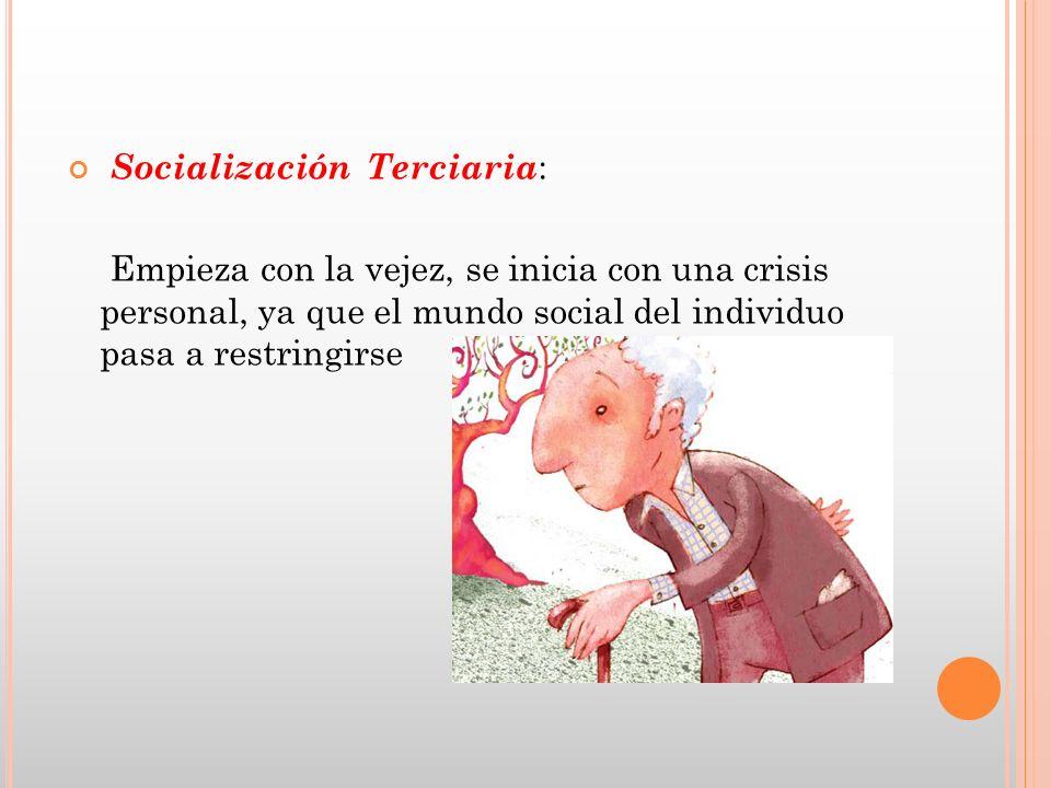 Socialización Terciaria: