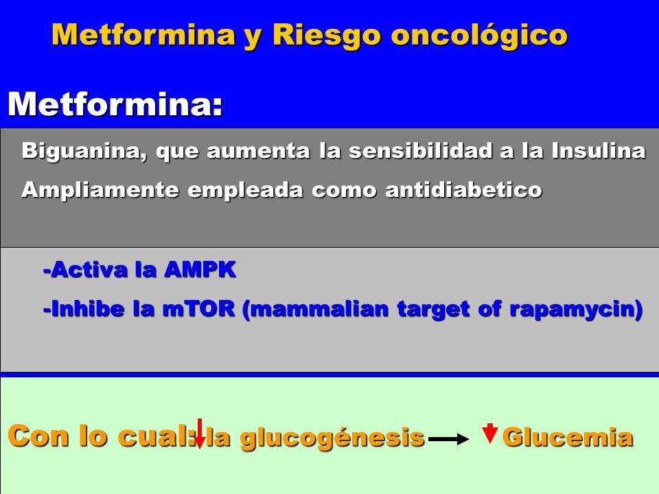 Metformina: Metformina y Riesgo oncológico