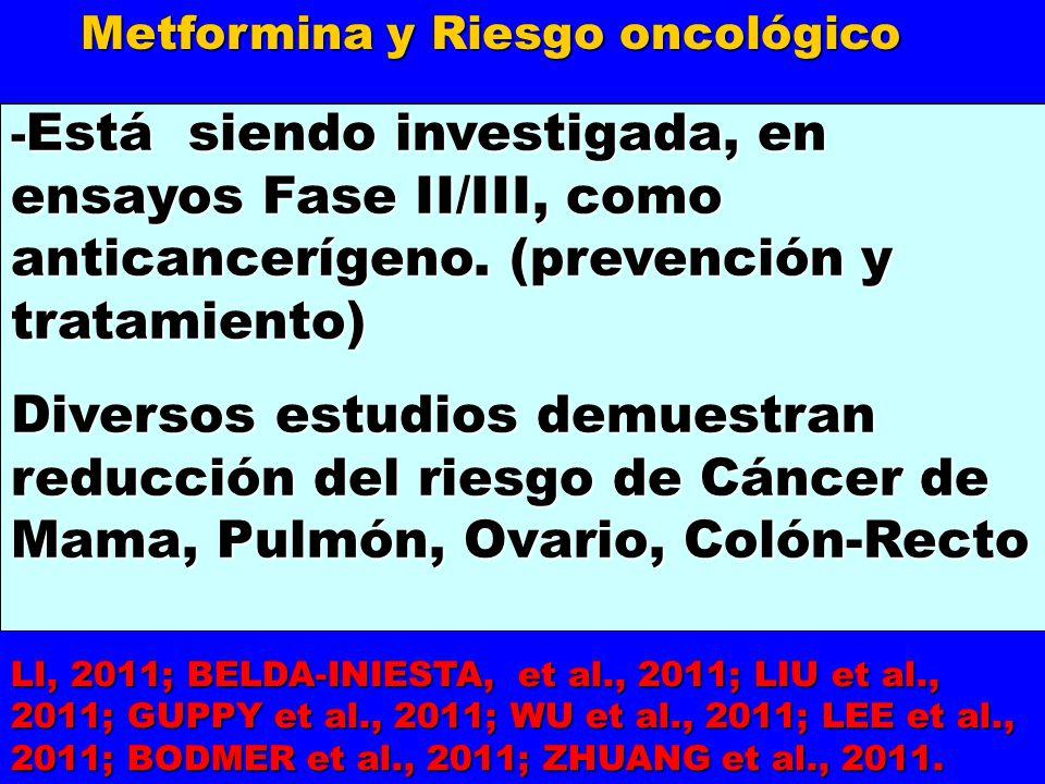 Metformina y Riesgo oncológico
