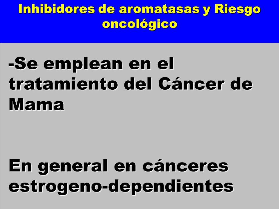 Inhibidores de aromatasas y Riesgo oncológico
