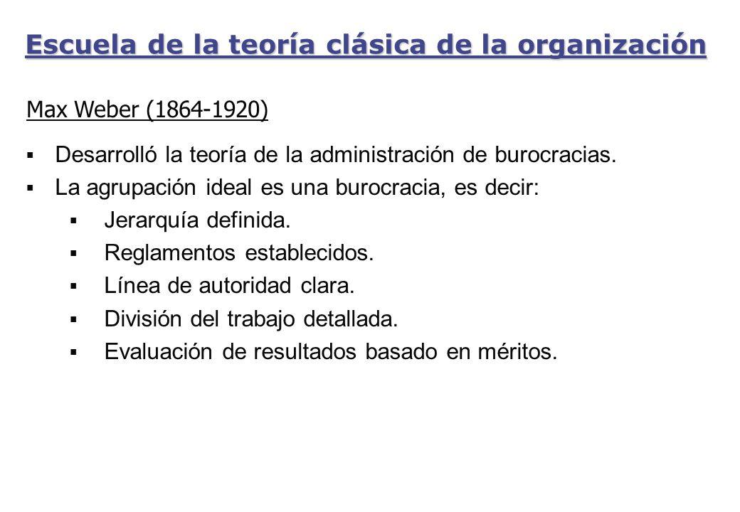 Escuela de la teoría clásica de la organización
