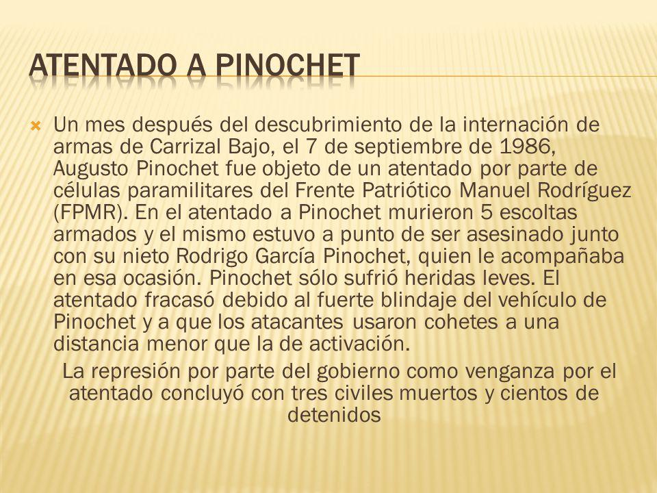 ATENTADO A PINOCHET