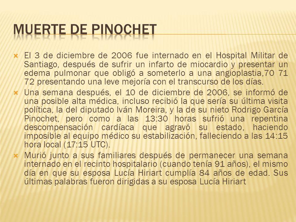 MUERTE DE PINOCHET