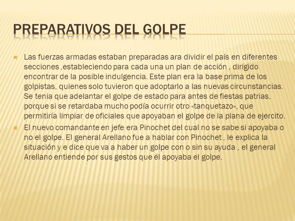 PREPARATIVOS DEL GOLPE