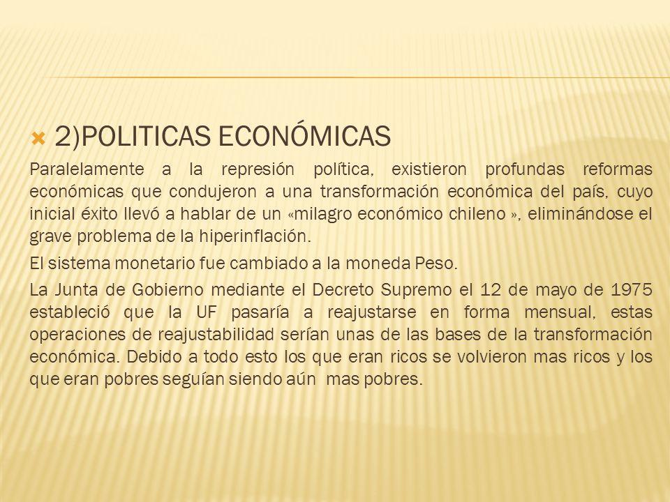 2)POLITICAS ECONÓMICAS