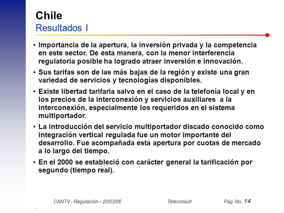 Chile Resultados I