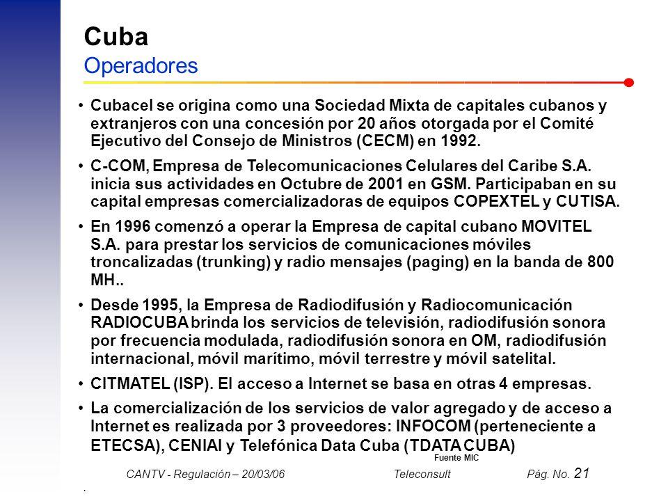 Cuba Operadores