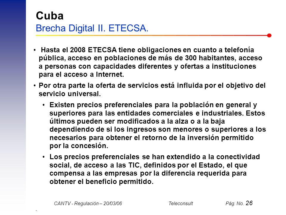 Cuba Brecha Digital II. ETECSA.