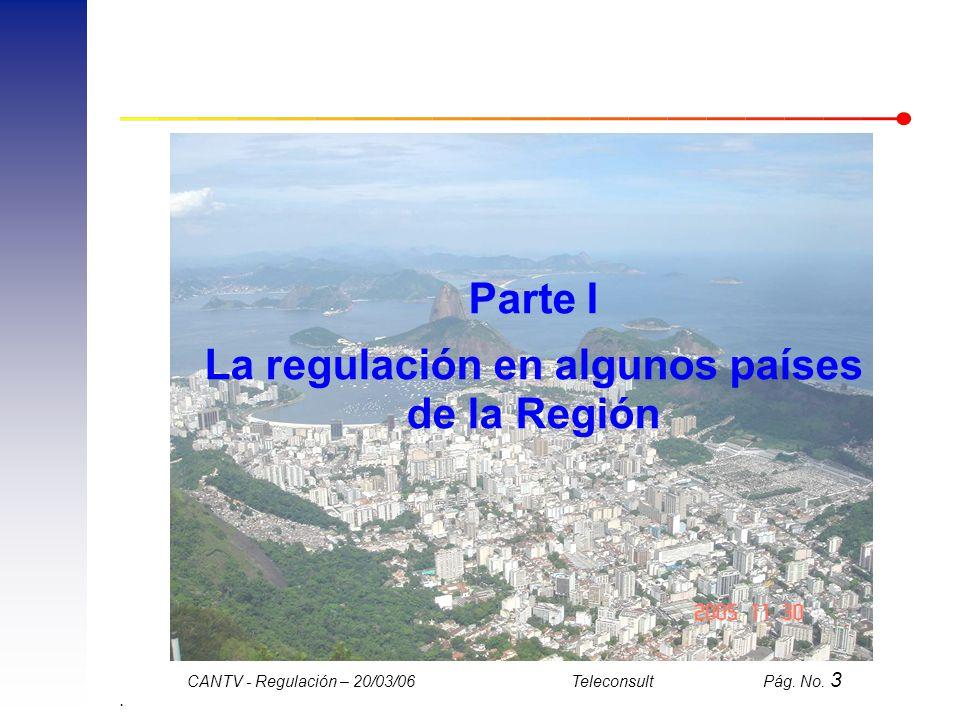 La regulación en algunos países de la Región