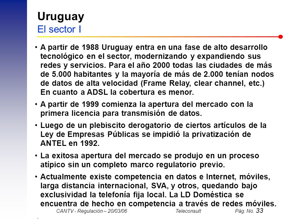 Uruguay El sector I
