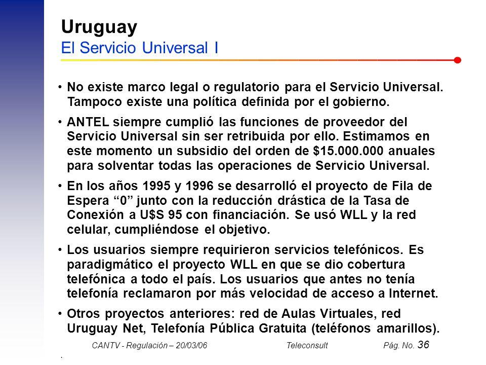 Uruguay El Servicio Universal I