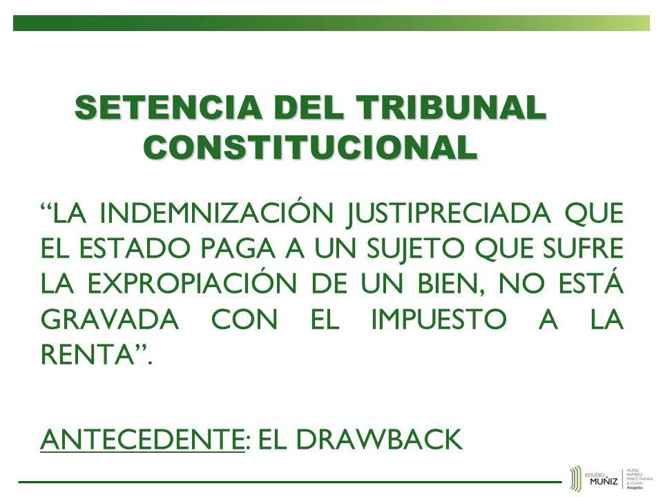SETENCIA DEL TRIBUNAL CONSTITUCIONAL