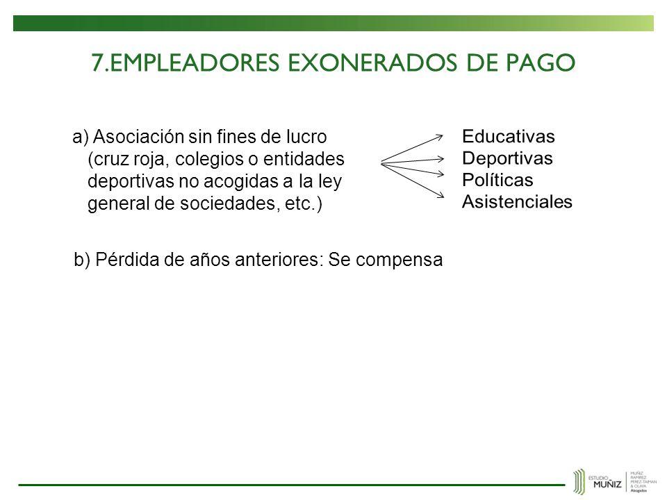 7.EMPLEADORES EXONERADOS DE PAGO