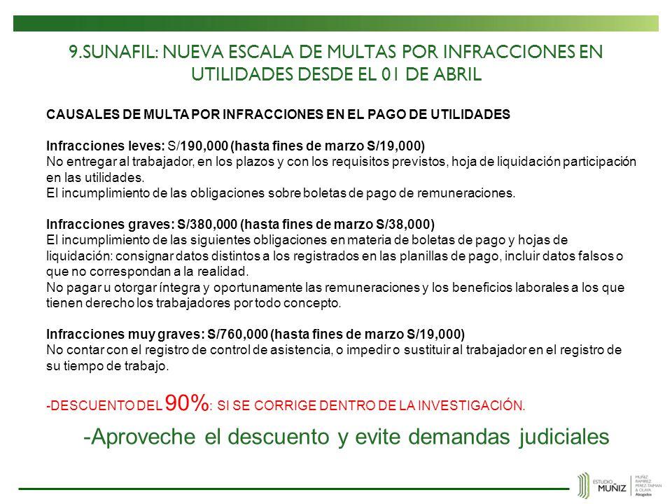 -Aproveche el descuento y evite demandas judiciales