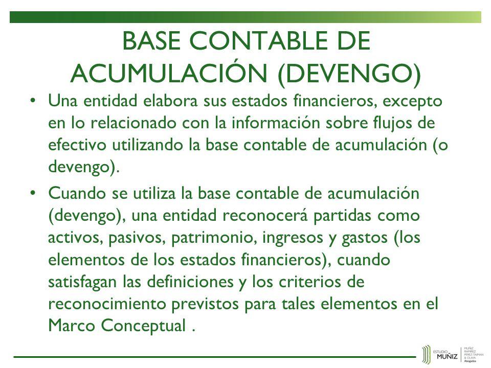 BASE CONTABLE DE ACUMULACIÓN (DEVENGO)