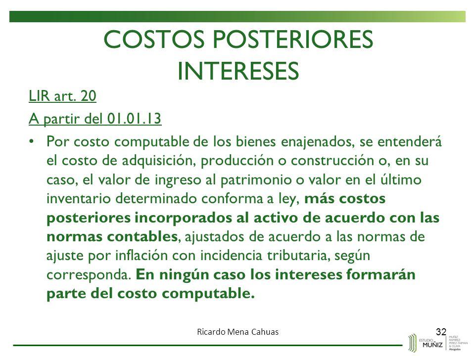 COSTOS POSTERIORES INTERESES