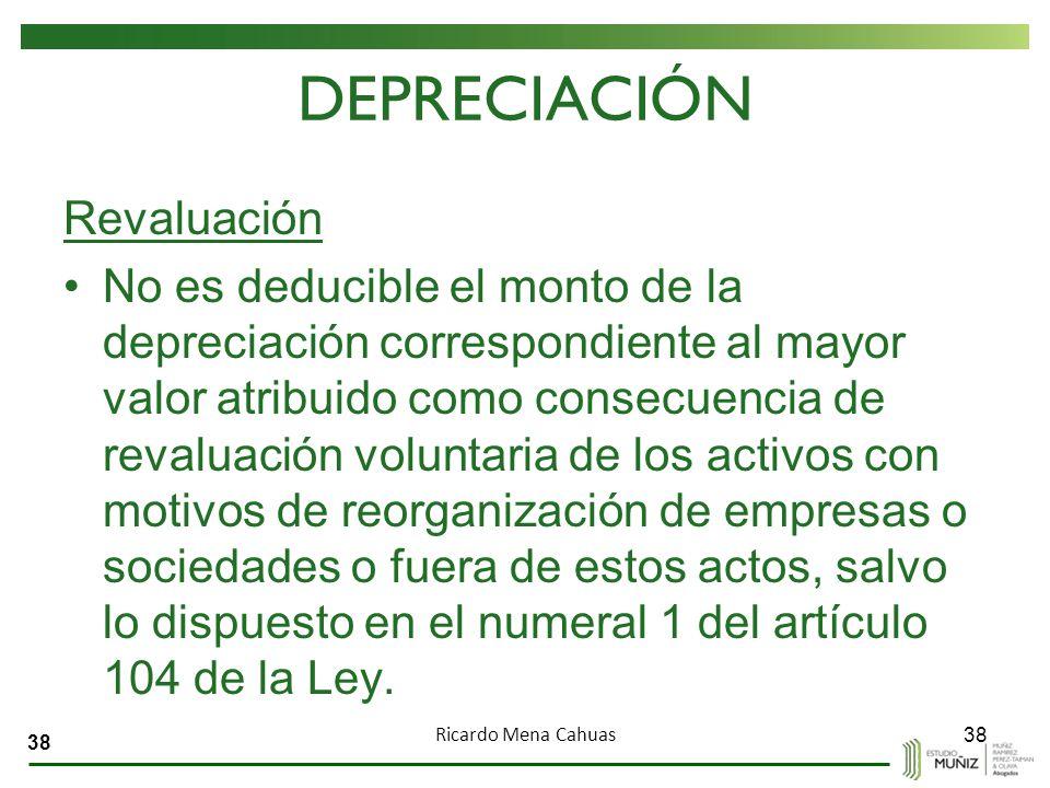 DEPRECIACIÓN Revaluación