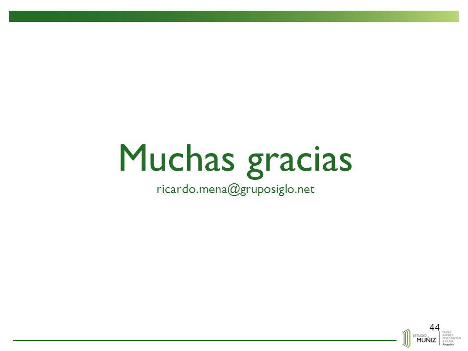 Muchas gracias ricardo.mena@gruposiglo.net