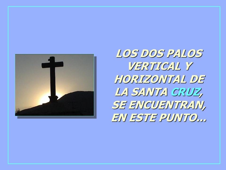 LOS DOS PALOS VERTICAL Y HORIZONTAL DE LA SANTA CRUZ, SE ENCUENTRAN, EN ESTE PUNTO...