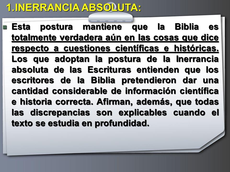 INERRANCIA ABSOLUTA: