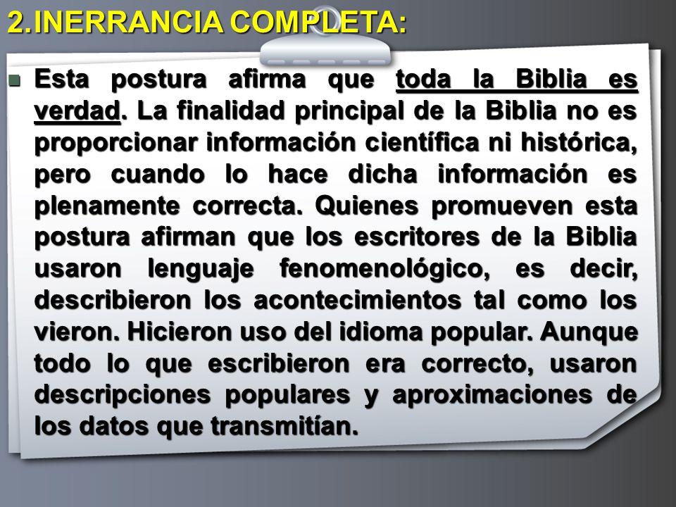 INERRANCIA COMPLETA: