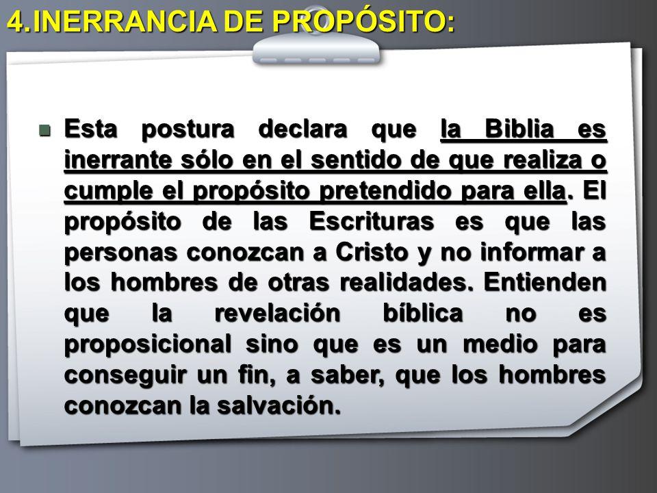 INERRANCIA DE PROPÓSITO: