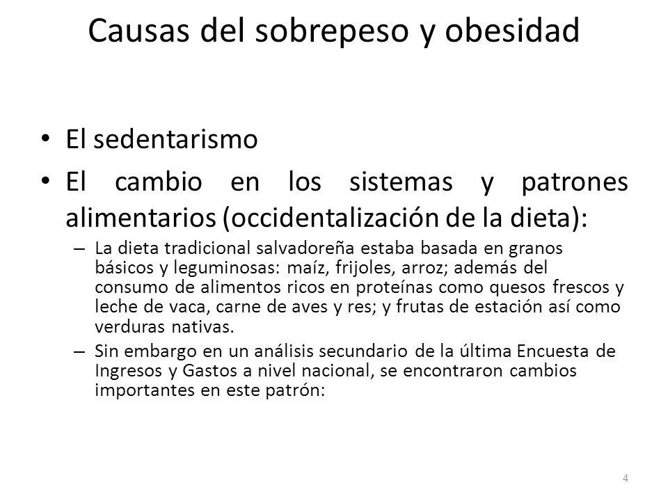Causas del sobrepeso y obesidad